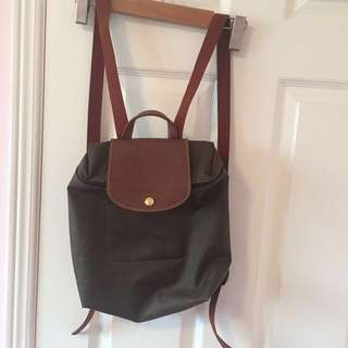 AUTHENTIC Forest green Longchamp backpack