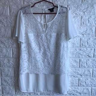 F&F White Blouse