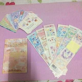 Evercare card , memo sheet & stickers Evercare 卡,memo 紙,貼紙