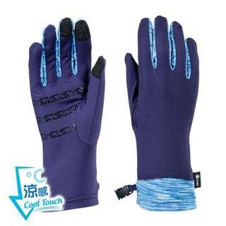 [全新/免運費] UV100 抗UV-涼感拼接觸控手套-幾何止滑