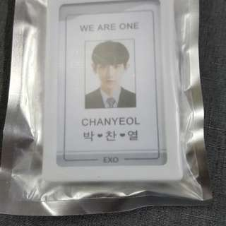 EXO ~ CHANYEOL ID AND LANYARD ~ READY STOCK