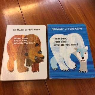 Brown Bear, what do you see?& Polar Bear what do you hear?