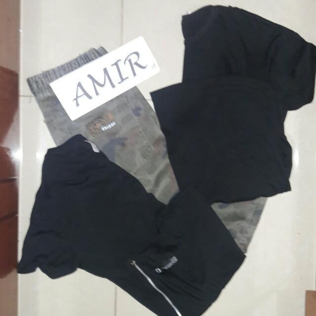 2pcs Penshoppe Shirt & Camou Jogger Pants