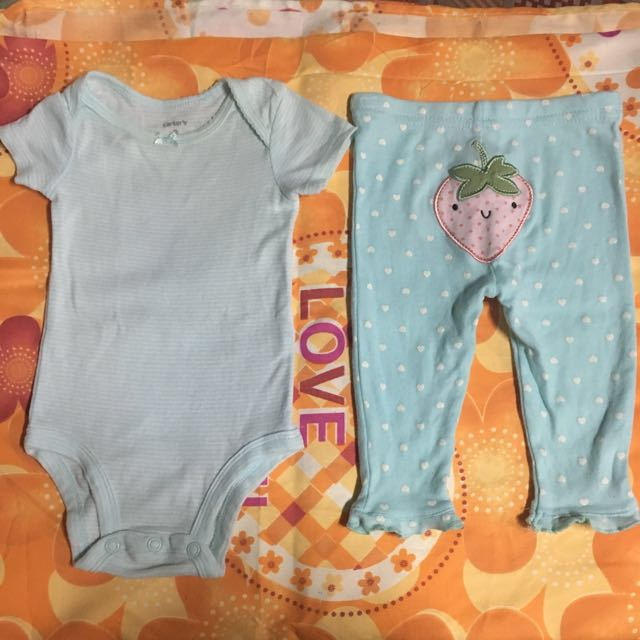 3-6 Months Carters baby girl onesies and pajama
