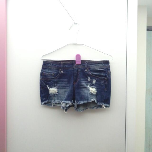 👑全新深藍色彈性牛仔褲#交換最划算