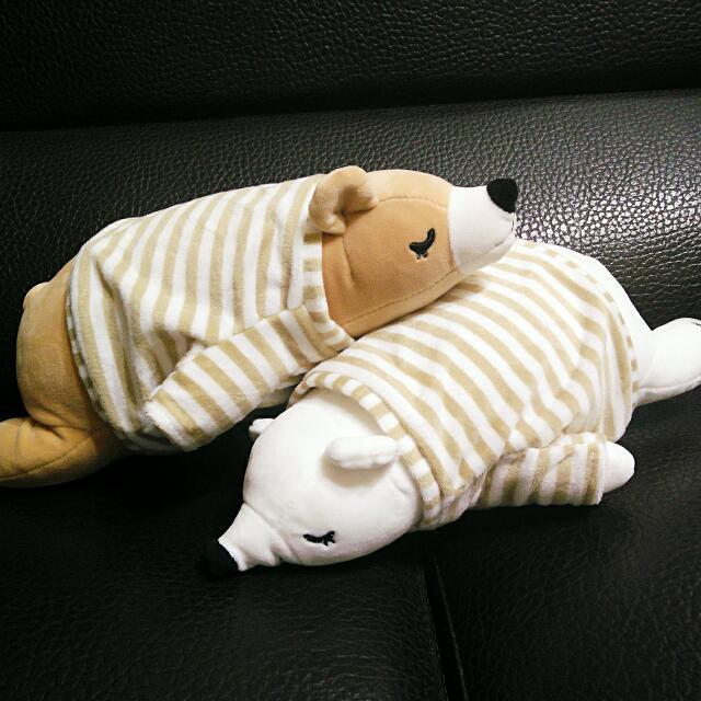 北極熊抱枕 北極熊娃娃 趴睡娃娃 睡覺娃娃