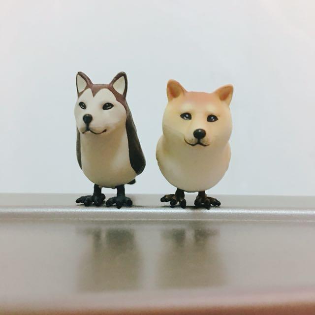 狗鳥 扭蛋 哈士奇 柴犬