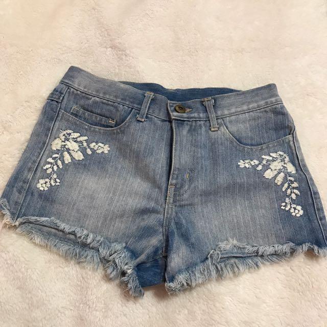 韓版 全新 牛仔短褲 S