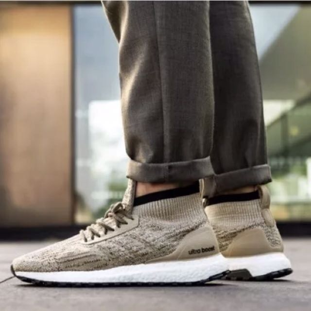 Adidas Ultraboost Mid All terrain shoes, Color: BEIGE, KAKHI Size 11UK
