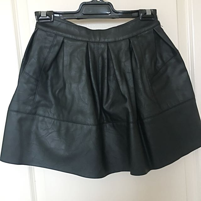 ASOS Black PU Leather Skirt