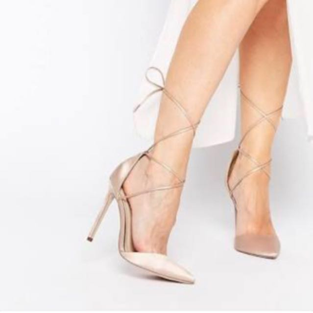 ASOS Pointed Lace Up Heels