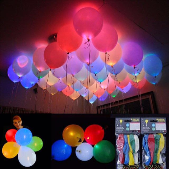 Balloons with LED light