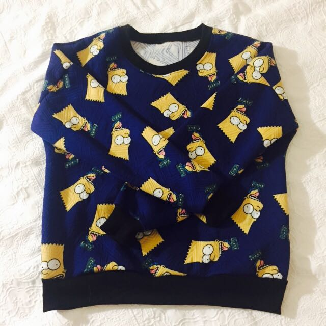 Bart Simpson Sweater Women S Fashion Clothes On Carousell