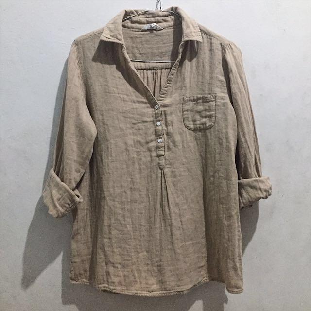 Beige cotton blouse
