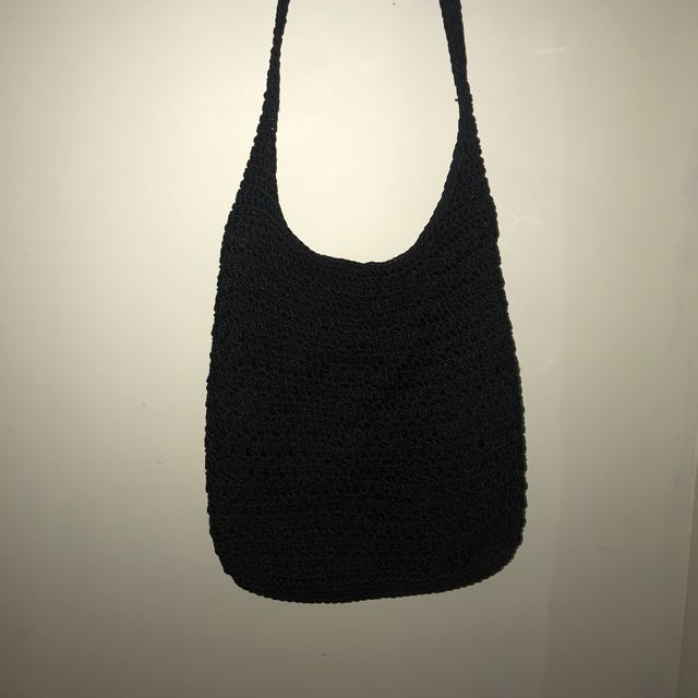 Black festival side bag