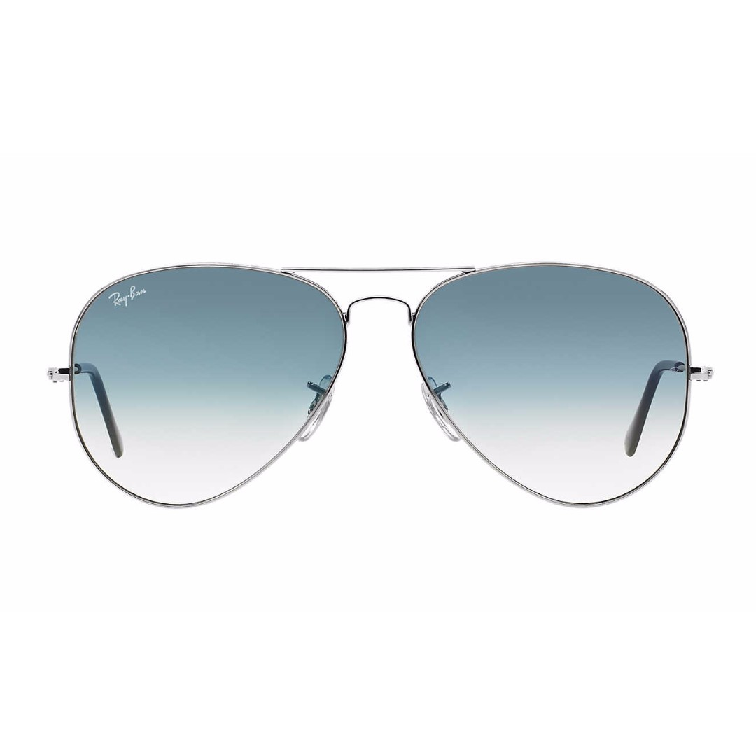 Blue & Silver Aviator Sunglasses