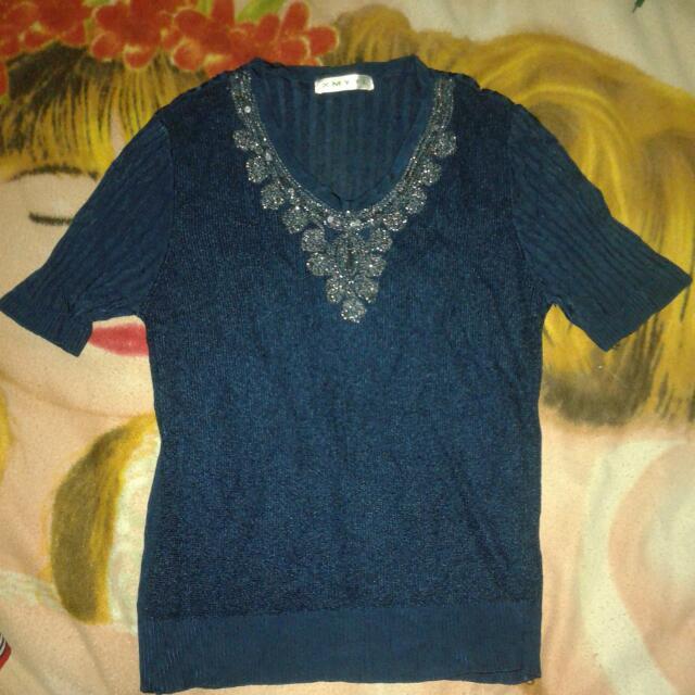 Vintage Blue Blouse (XMYTL)