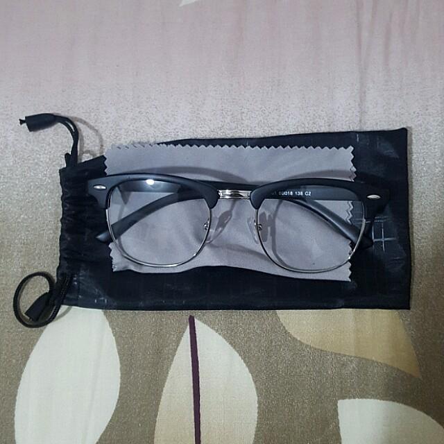 17c5af361ca2f bn matte black vintage clubmaster specs glasses clear lens with ...