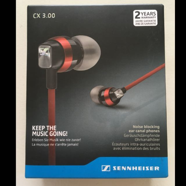 Bn Sennheiser Cx 300 Red Electronics Audio On Carousell