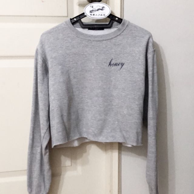 Brandy Melville Honey Sweater In Grey Womens Fashion Clothes