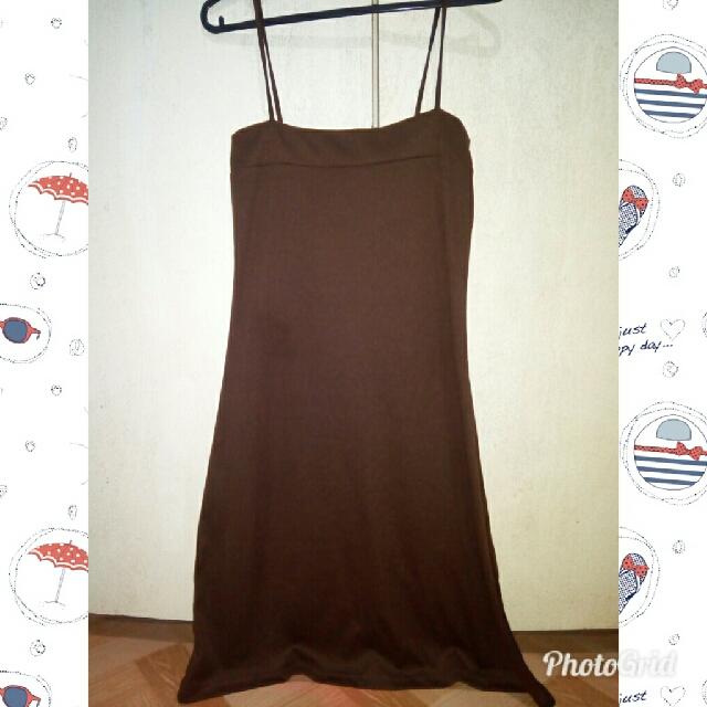 brown slip on dress
