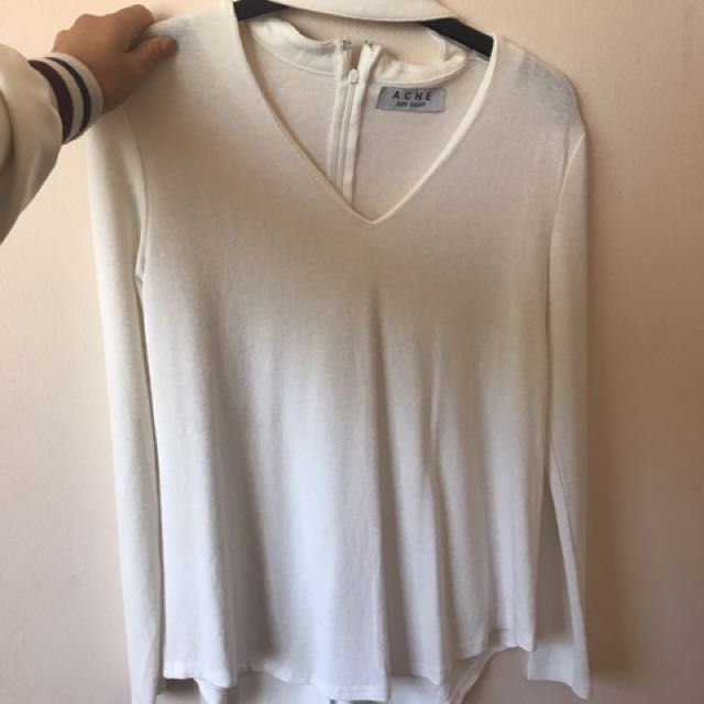 Choker Styled Long Sleeve Top