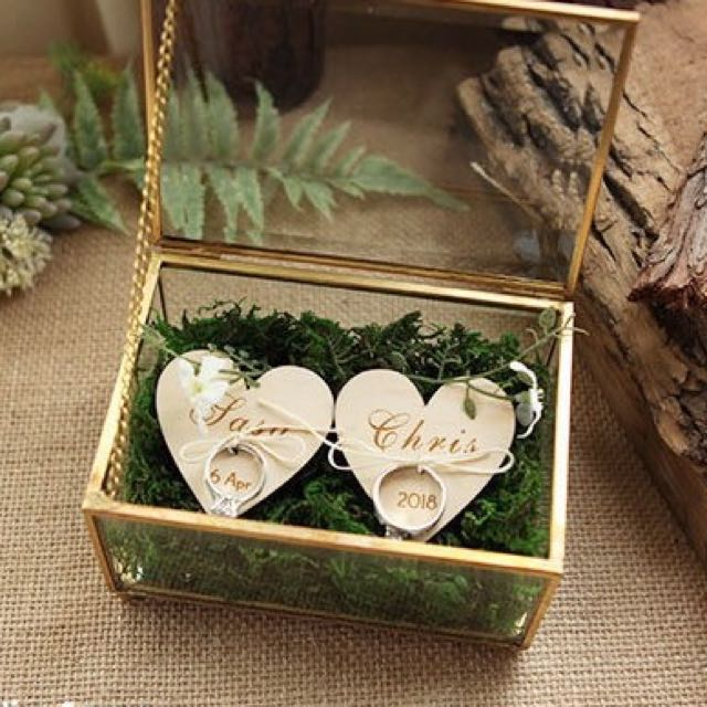 Customised Wedding Ring Glass Box, Design & Craft, Others