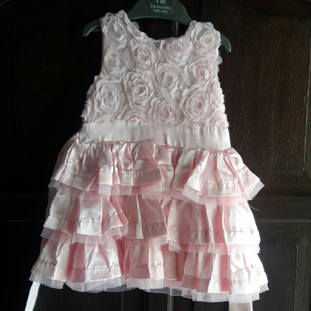 Dress Anak Pink Rose usia 1-2th