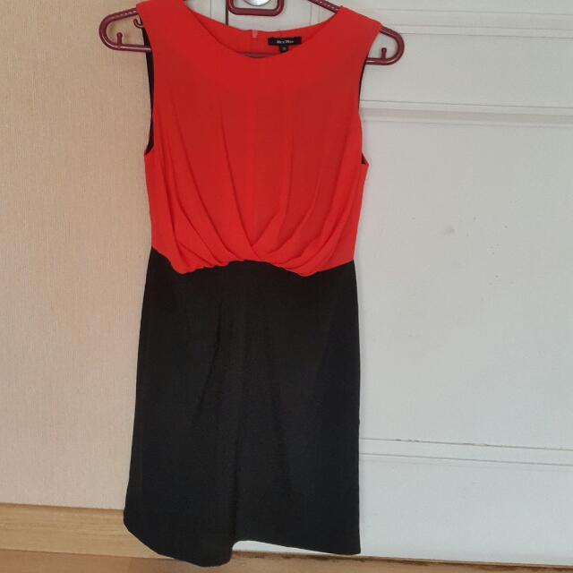 Dress Orange Hitam