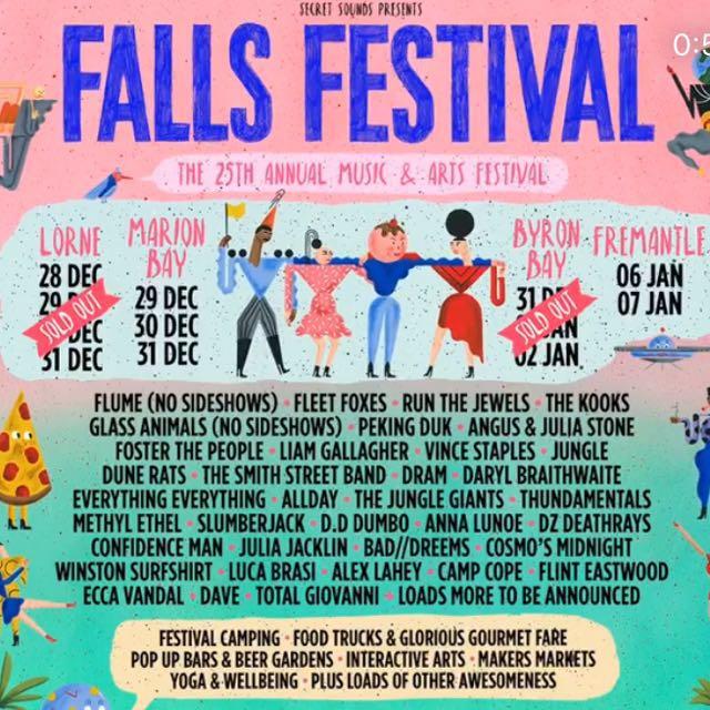 Falls festival WEEKEND ticket