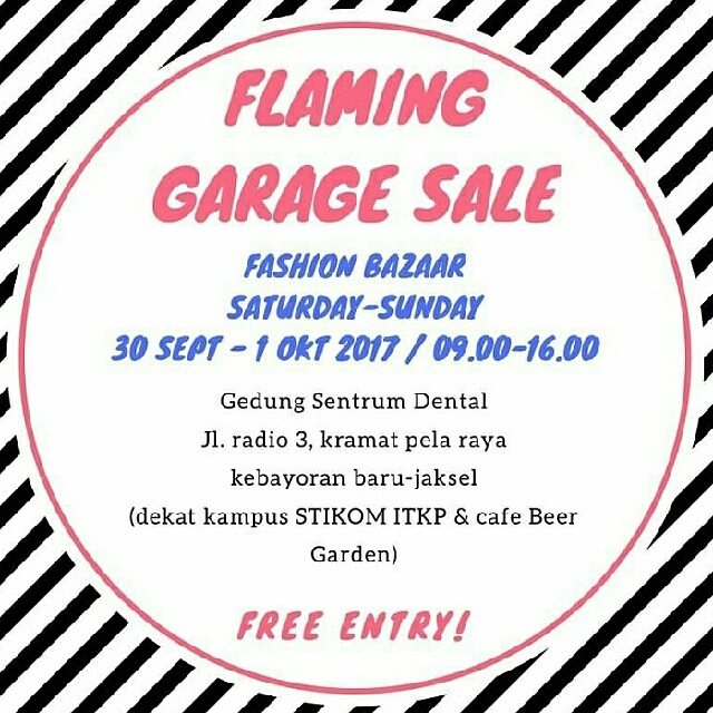 FLAMING GARAGE SALE