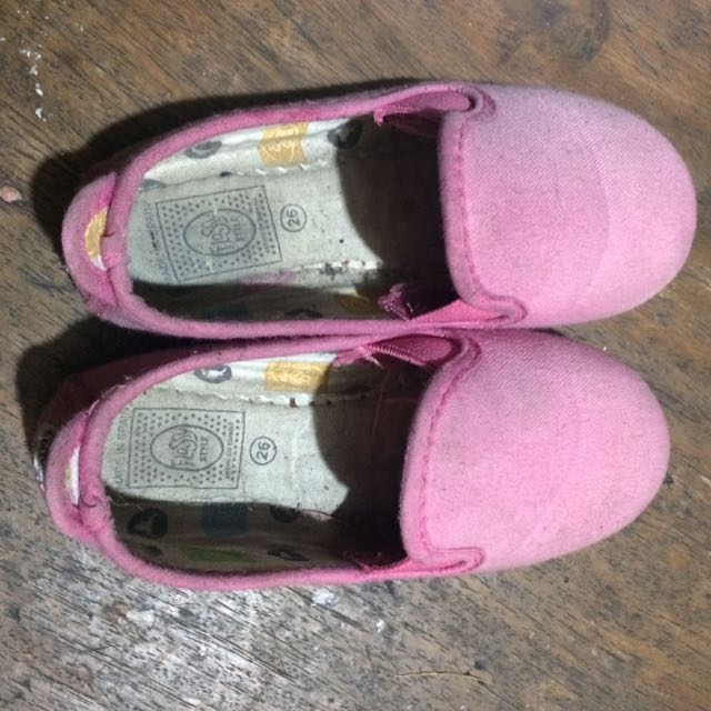 Flossy pink shoes size 26