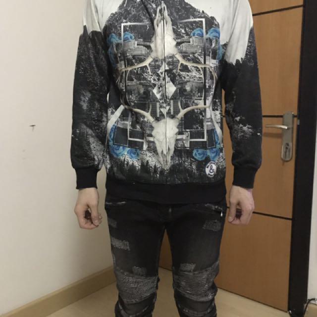 Givenchy replica hoodie jacket (98% kondisi)