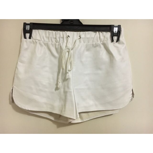 Glamorous white pleather shirts size S