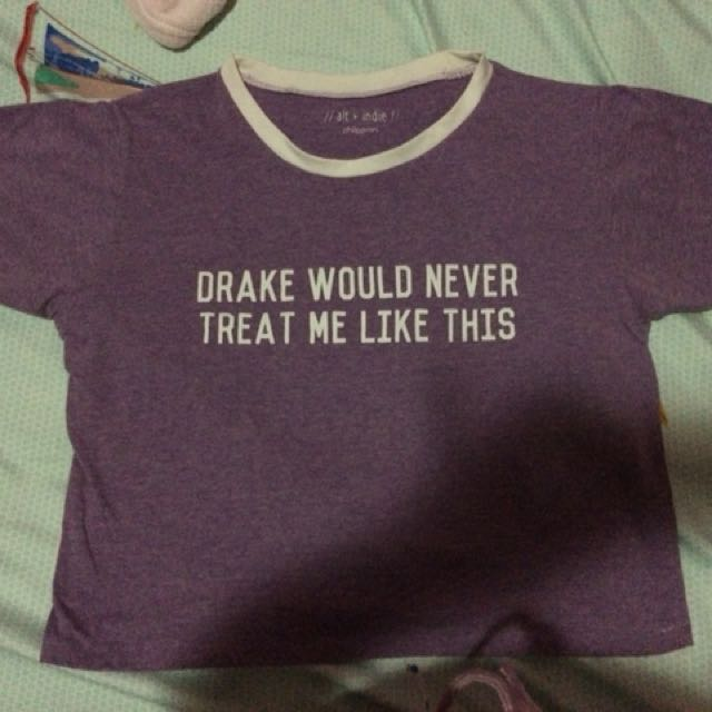 Graphic Drake Crop Top