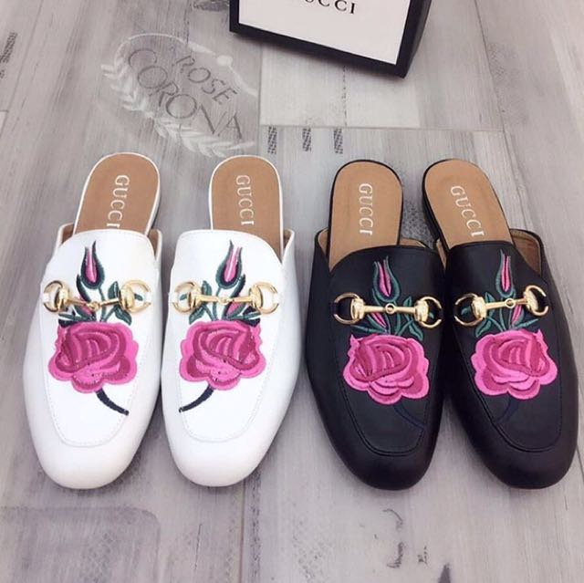 Gucci floral slip on