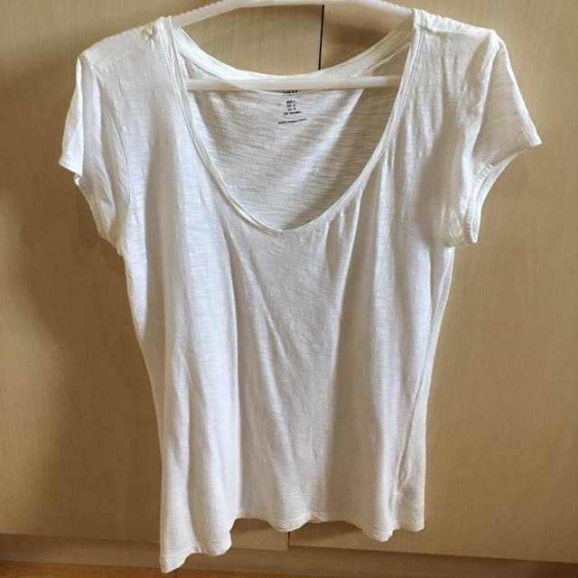 H&m Basic White Tee