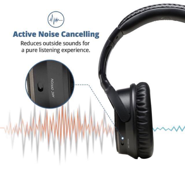 d25b6d160c0 IdeaUSA AtomicX Wireless Active Noise Cancelling Headphones V201 ANC ...