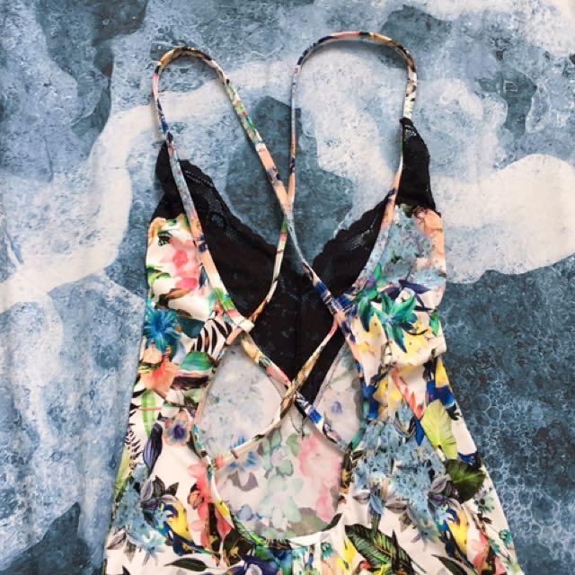 Floral lace bodysuit - (Italian brand) Tezenis