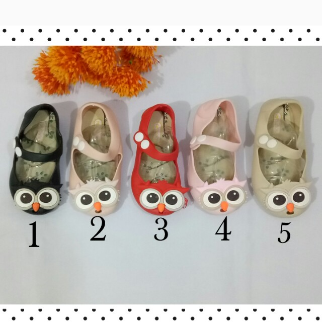 Jelly Shoes Owl Design For Kids