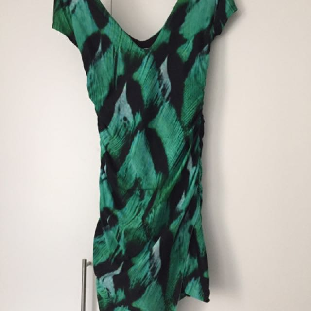 Kookai Green Wrap Dress Size 2
