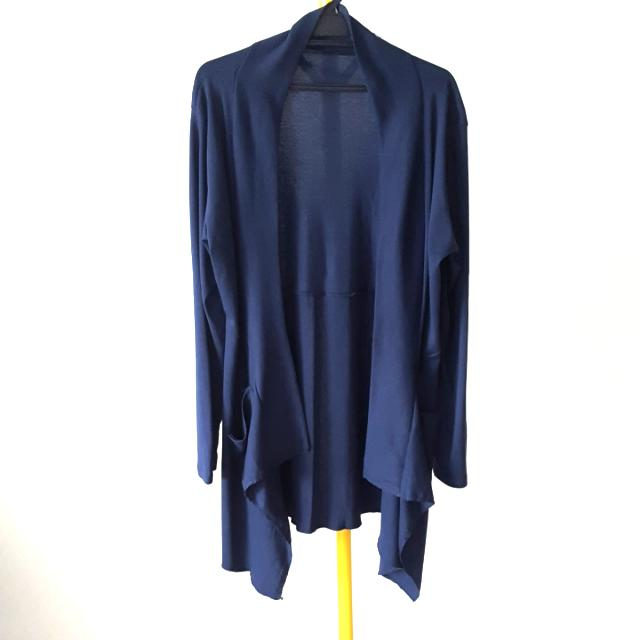 L To XL  Naby Blue Cotton  Stretchy Cardigan  Free Size