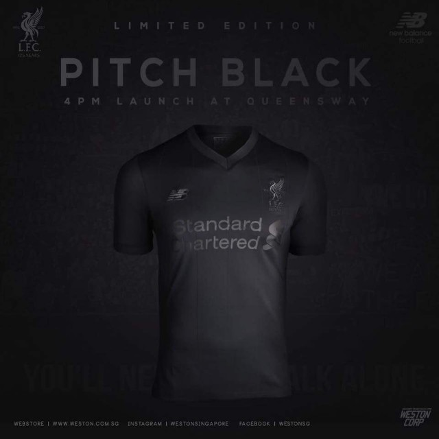 12a1befe0 LIVERPOOL LIMITED EDITION ELITE PITCH BLACK LFC JERSEY SHIRT (M) 17 ...
