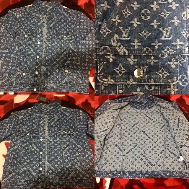 LV SUPREME JEAN JACKET (LARGE USA SIZE)