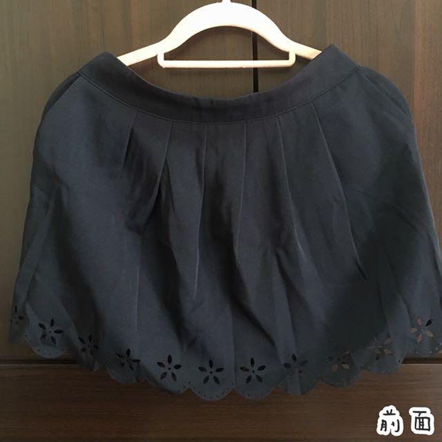 MAYUKI 東京著衣 甜美鬆緊腰側邊口袋打褶雕花裙 OL風 百搭
