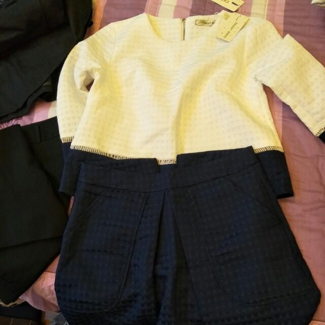 全新套裝,適合M尺碼以下的小姐穿,價格是100元一套,不含運費