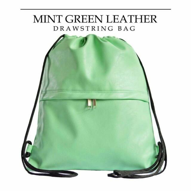 Myriad Leather Drawstring Bags e98c96fec