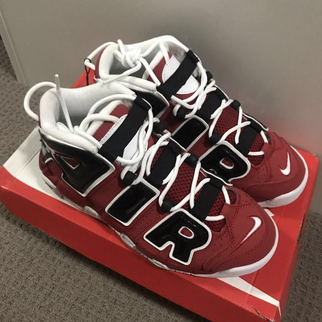 new arrival 062cd 9a52b Nike Air More Uptempo  Bulls , Women s Fashion, Shoes on Carousell