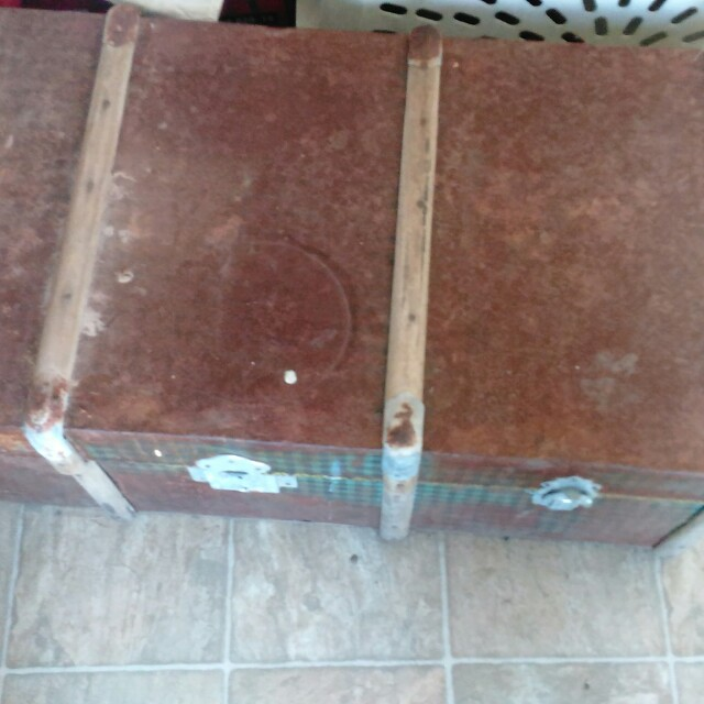 Old chest or old toy box