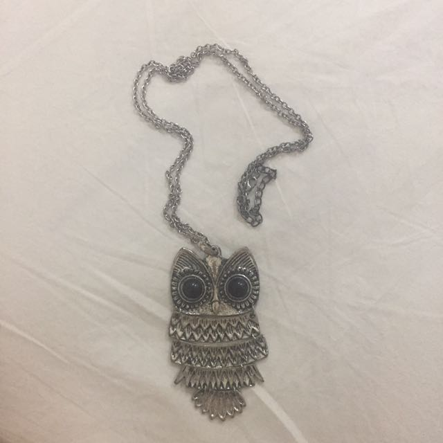 Owl long necklace